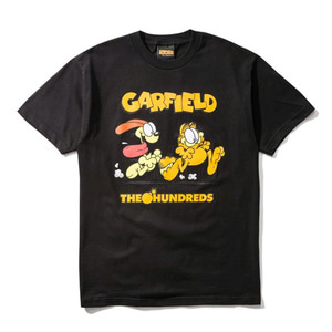 THE HUNDREDS X Garfield Chase T-Shirt BLACK