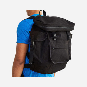 ROTHCO CANVAS EUROPEAN RUCKSACK (BLACK)