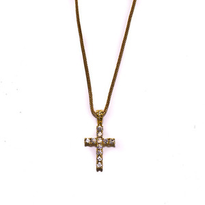 Design By TSS GOLD MEDIUM CROSS Necklace (GOLD)